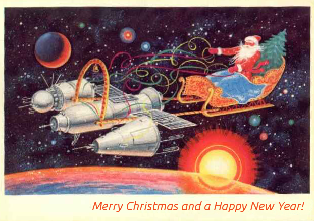 Soviet Christmas post card
